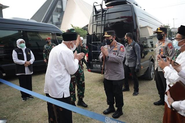 *Forkompimda Jatim Dampingi Panglima TNI dan Kapolri Kunjungi Vaksinasi Pesantren Tebu Ireng Jombang*