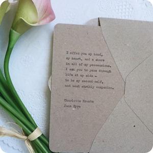 Cartolina fatta  a mano con citazioni