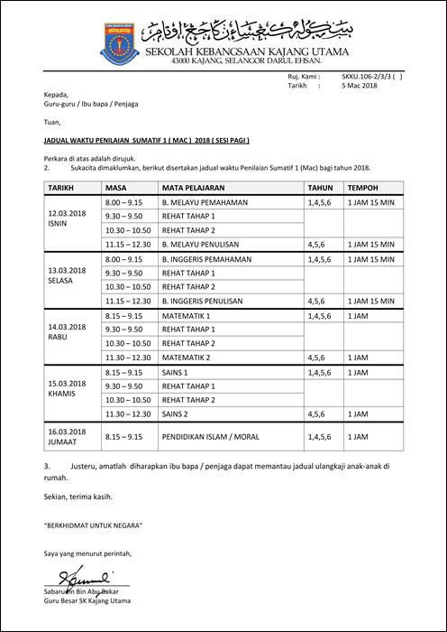jadual peperiksaan sumatif 1 pagi dan petang_001