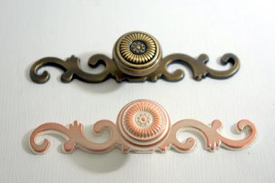 裝潢五金品名:311+312-古典取手型式:單顆取手+古典墊片顏色:青古/粉白色玖品五金