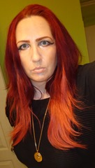wearing Irresistible Me hair extensions Remy Royal Light Red #130_2
