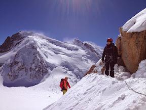 Vue sur le Mt Blanc du Tacul