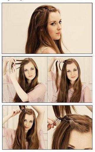 シンプルなヘアスタイルチュートリアル