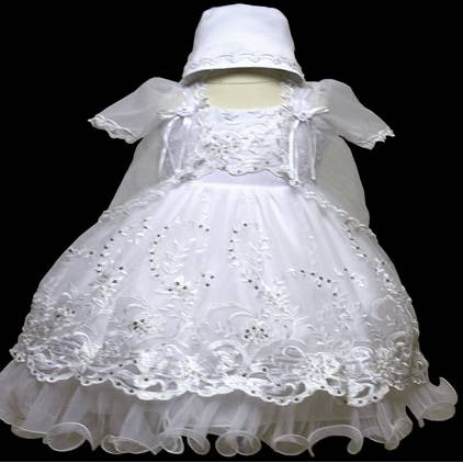 Angel baby girl Christening Baptism Dress Gowns outfit /XS/S/M/L/XL/0-3M/3-6M/6-12M/12-18M/18-24M/XSMALL/SMALL/MEDIUM/LARGE/XL/#603 at Sears.com