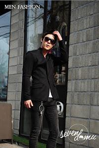 seven domu blazer+korea+black+style+bk02 4