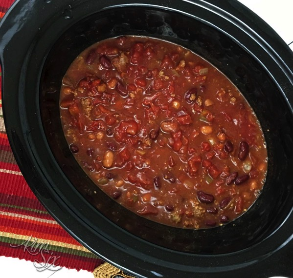 Making chili in the slow cooker
