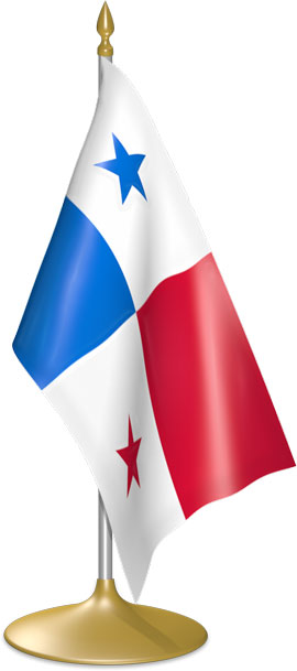 Panamanian table flags - desk flags