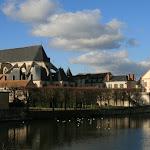 Le Loing et l'église Saint-Jean-Baptiste