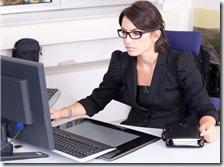 Una donna al lavoro