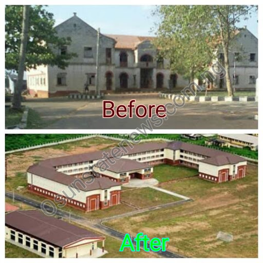 Ilesa Government High School. Old and New
