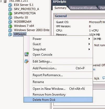 Quitar referencias a datastore en máquinas virtuales VMware ESXi