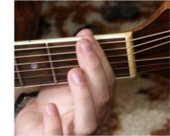 Dźwięki na gryfie gitary