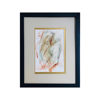 John Whitney Signed Pencil and Watercolor Drawing