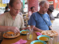One last roti canai and a lemon peng at the Bilal Resturant in Miri before heading for the airport | photo © Matt Kirby