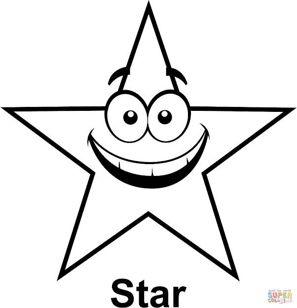 Star With Cartoon Face