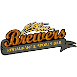 Logo of Brewers Restaurant Sports Bar Orange Wheat