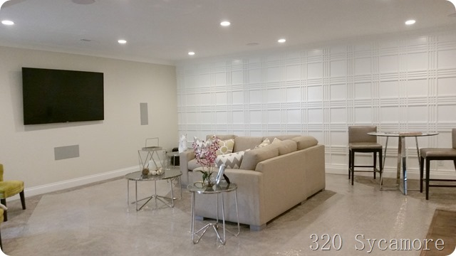 wall treatment in family room