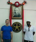 Sifu Garry Mckenzie with student Andy Cunningham at the Wing Tsun Athletic Association.