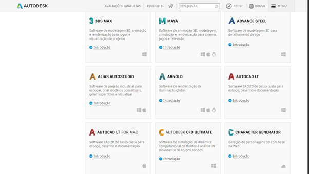 Instalação de licenças gratuitas Autodesk para estudantes e professores