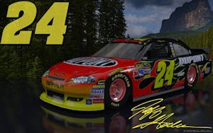Jeff Gordon Dupont Outdoor Version 2 Wallpaper