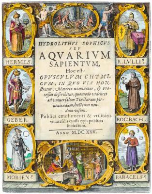 From Hydrolithus Sophicus Seu Aquarium Sapientum 1625, Alchemical And Hermetic Emblems 2