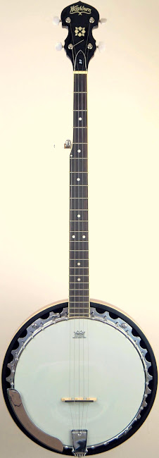 US Music Washburn resonator 5 string Banjo at Ukulele Corner