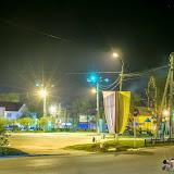Ночной Суворов. Площадь возле ДК