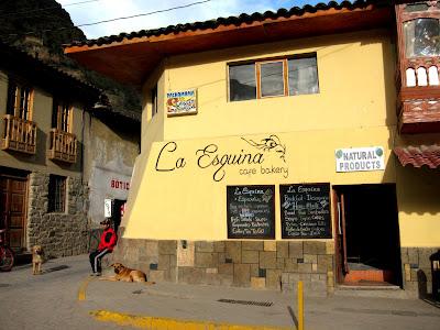 La Esquina cafe in Ollantaytambo Peru