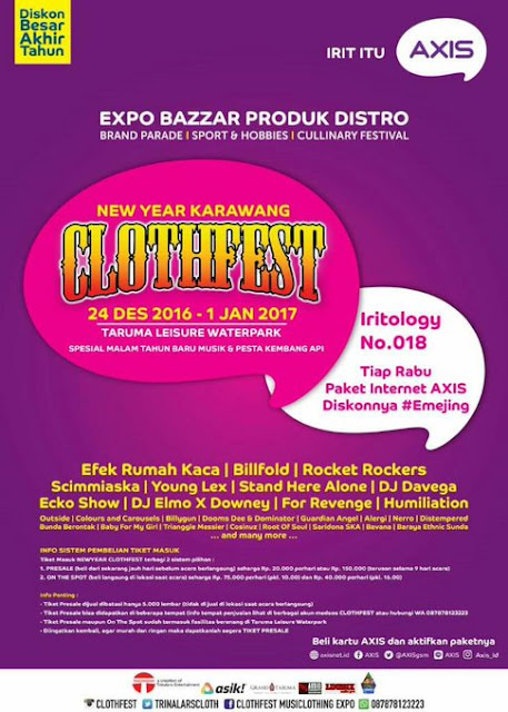 Event NEWYEARS CLOTHFEST Karawang 24 Des 2016 - 1 January 2017