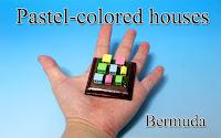 Pastel-coloerd houses -Bermuda--