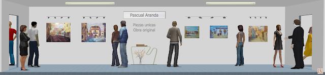 Sala de exposición virtual de pinturas de Pascual Aranda