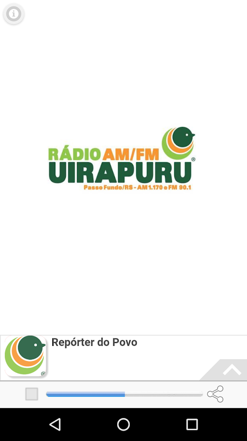 Rádio Uirapuru- screenshot