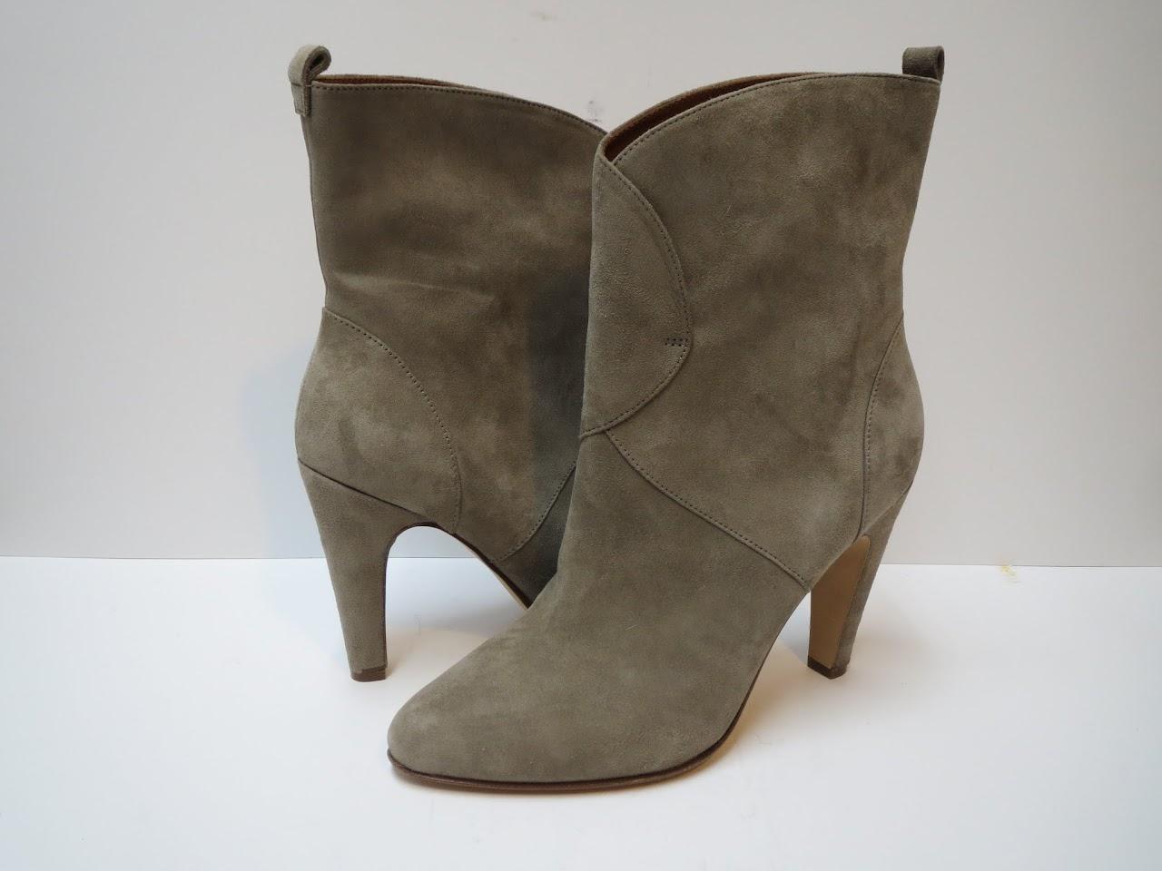 Sigerson Morrison Grey Suede Boots