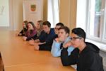 Halles ģimnāzijas skolēnu delegācija skolā