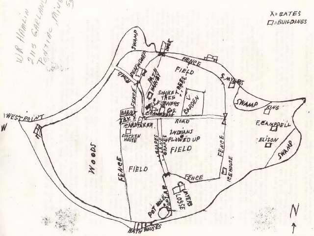 Apple Island Map drawn by Win Hamlin
