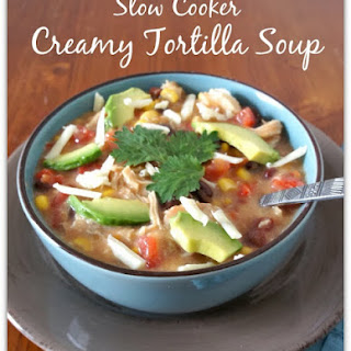 Recipe for Slow Cooker Creamy Chicken Tortilla Soup