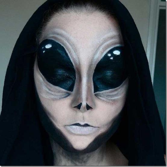 maquillaj de alien