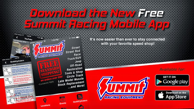 Shop. About Us. Customer Service. Follow Us. New Products; Gift Cards; Summit Racing Credit Card.