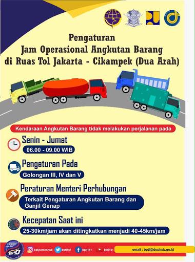 Aturan Ganjil-Genap Hingga Jalur Khusus Bus Dan Pembatasan Truck Melintas Di Tol Jakarta-Cikampek