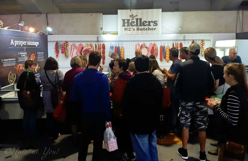 Booth of Heller's sausages