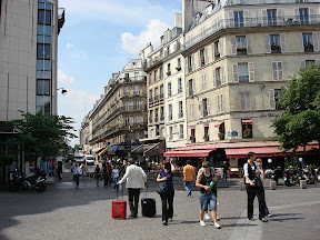 Typical Parisian street scene