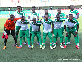 L'équipe de DCMP le 28/04/2013 au stade des Martyrs à Kinshasa, lors du match perdu contre Lupopo score: 1-2. Radio Okapi/ Ph. John Bompengo