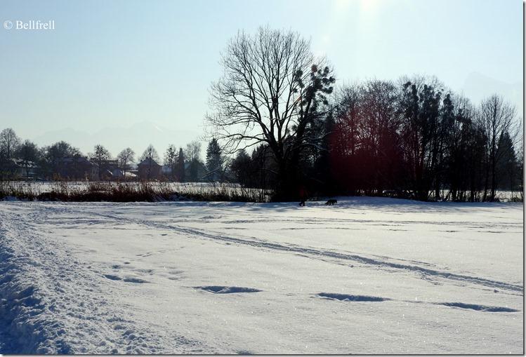 Blick nach Süden Schnee