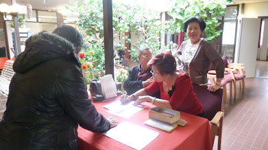 Photo: De registratie tafel