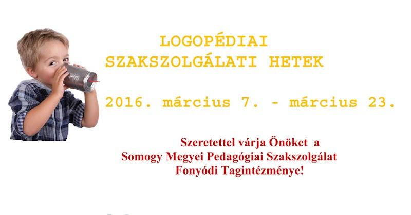 Logopédiai Szakszolgálati Hetek - Fonyód - 2016