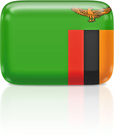 Zambian flag clipart rectangular