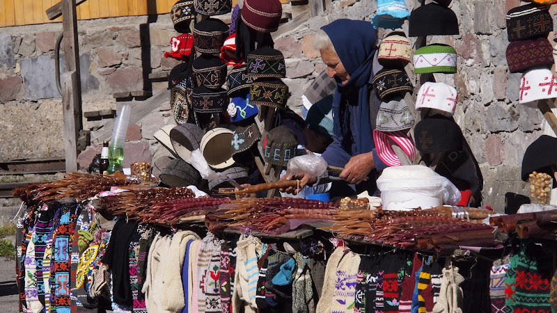 churchkhela vendors on Georgian Military Highway