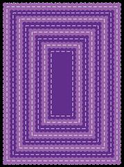 rectangle scallop die set