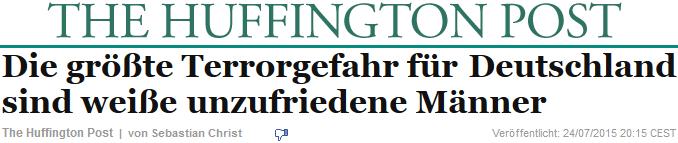 Sebastian Christ: Die größte Terrorgefahr für Deutschland sind weiße unzufriedene Männer