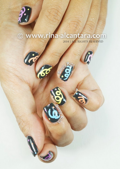 Welcoming 2014 Nail Art Design by Simply Rins